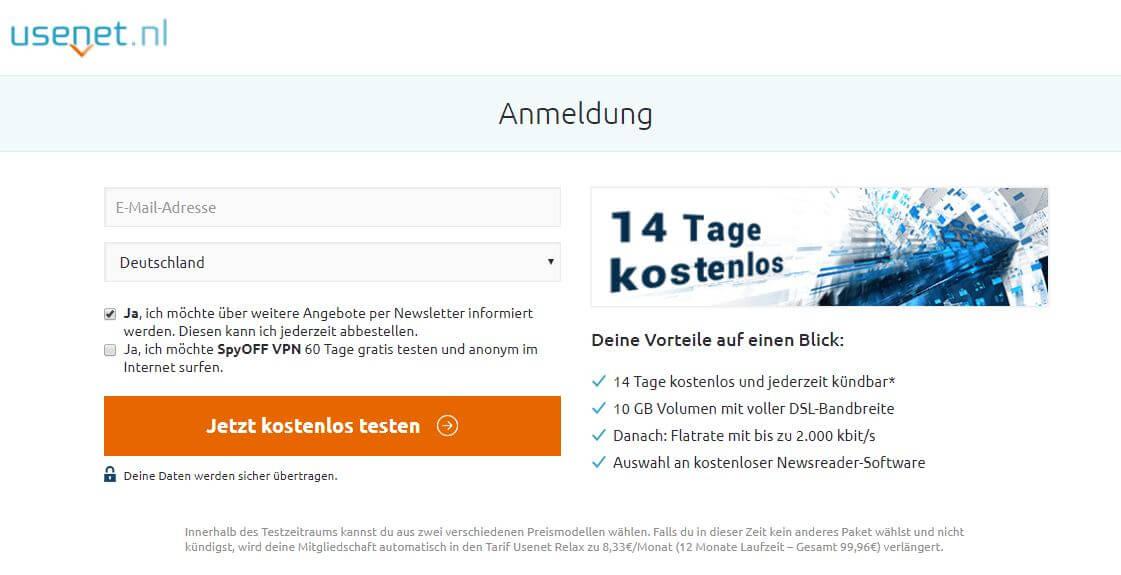 usenet.nl anmeldung schritt 1