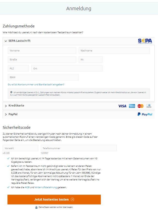 usenet.nl anmeldung schritt 2
